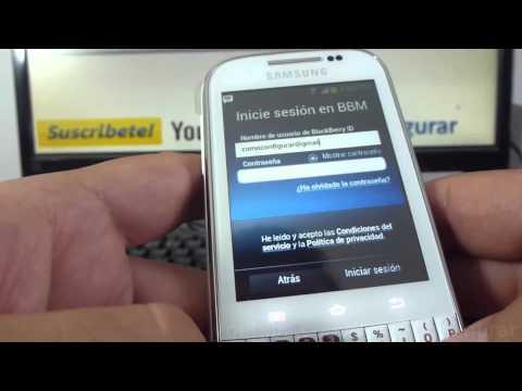 como Descargar blackberry messenger bbm gratis samsung Galaxy chat B5330 español Full HD
