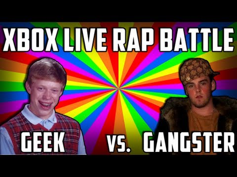 XBOX LIVE RAP BATTLE! Geek vs. Gangster (Black Ops 2 Funny Moments)