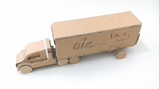 How To Make Container Truck | Amazing Cardboard DIY |