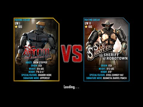 Real Steel WRB Free Sparring | Atom VS SixShooter | NEW ROBOT