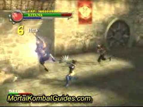 Mortal Kombat Shaolin Monks play as Kitana story mode