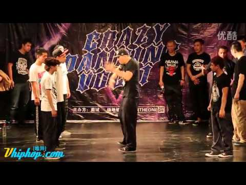 Popping battle 4on4 (franqey hoan kidboogie...)@Crazy dancing vol1