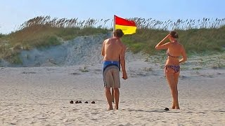 Ocracoke Island Beach - Short HD Video Tour, North Carolina Outer Banks, USA