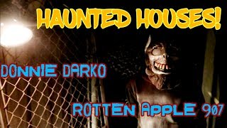#816 DONNIE DARKO & ROTTEN APPLE 907 Theme HAUNTED HOUSES - Daily Travel Vlog (10/31/18)
