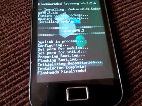 Instalar ROM Ceberus V5.2 Samsung Galaxy Ace S5830M/i/C