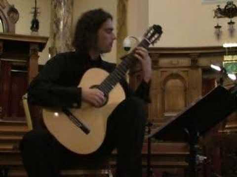 Tarrega's Capricho Arabe performed live by Gerard Cousins (guitar)