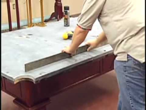 How to install a pool table - slate installation - Home Billiards
