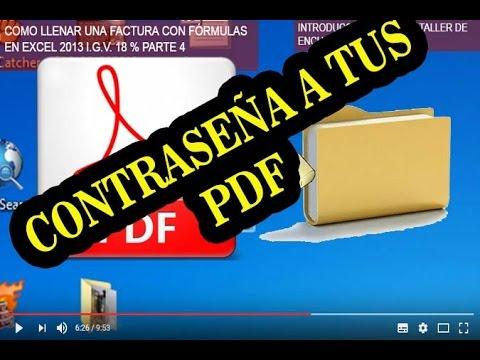 COMO PONER CONTRASEÑA A TUS DOCUMENTOS PDF