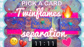 'PICK A CARD': Twin flames in separation🔥 WILL WE REUNITE? 11:11 ❤️LOVE READING ❤️