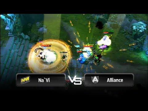 Early teamwipe by Na`Vi vs Alliance @ Starladder 8