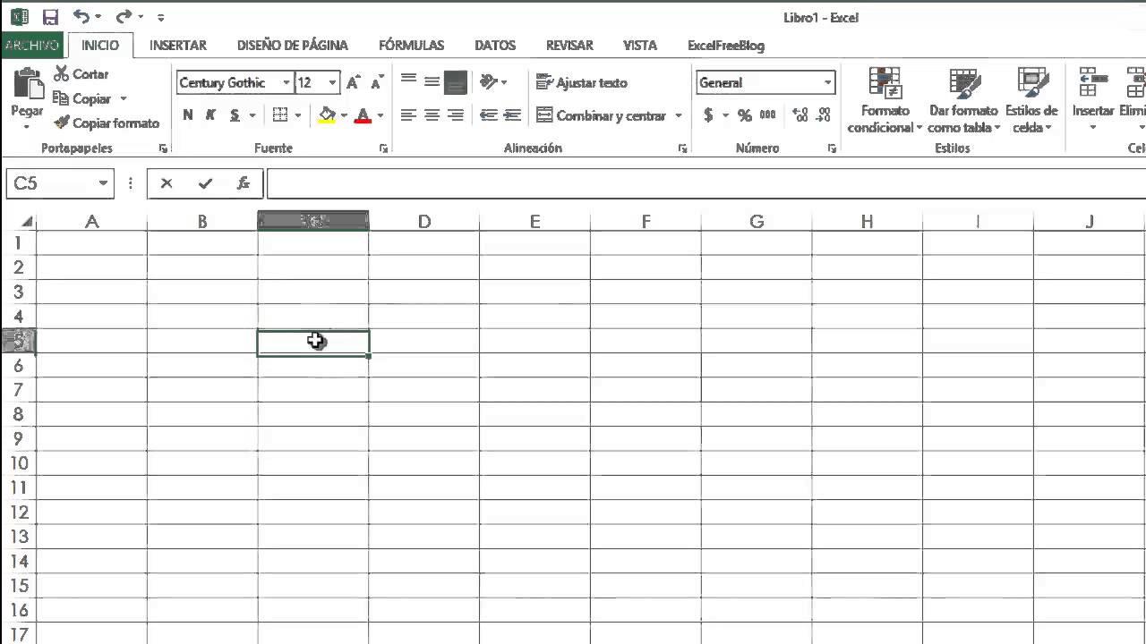 Barras de Excel 2013 Excel 2013