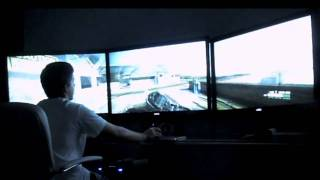 Crysis 2 on 3 42 inch Monitors. Nvidia Surround