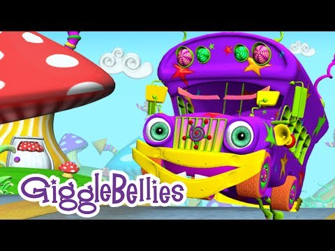 the Wheels On The Bus Nursery Rhyme With The Gigglebellies video