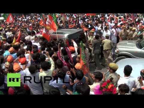 India: Massive crowds swarm victorious Narendra Modi in Delhi