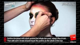 Sugar Skull Face Painting Make-up Tutorial