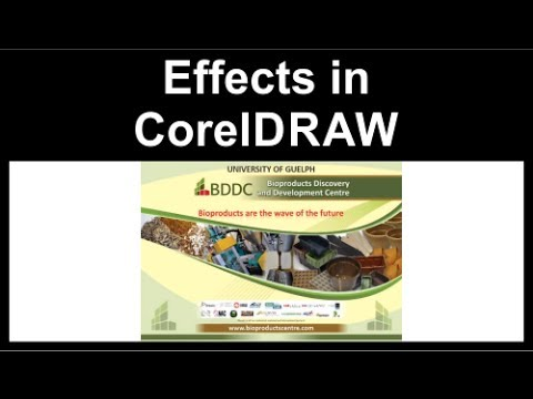 Combination of effects in CorelDraw