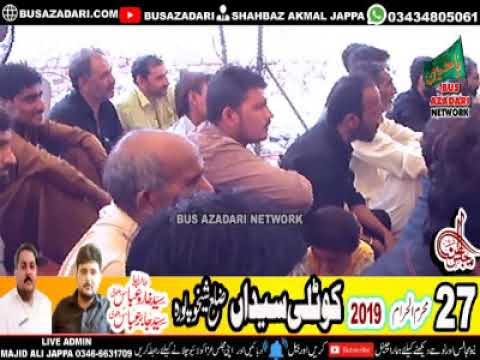 Zakir Shafqat Raza Shafqat Majlis aza 27 Muharram 2019 Kotli Syeda Skp