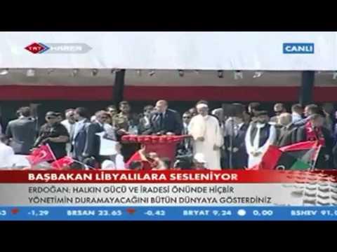 Basbakan Erdogan.Libya'da Sehitler Meydani'nda Libyalilara hitap etti..