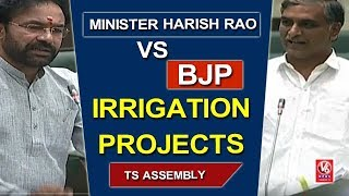 Harish Rao Vs BJP Leaders Over Irrigation Projects In Telangana - TS Assembly  - netivaarthalu.com