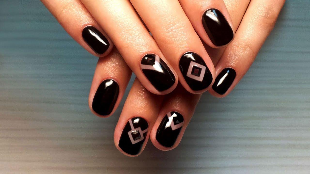 Дизайн ногтей по шеллаку видео