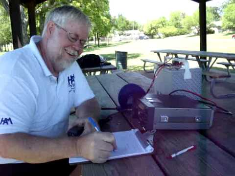 40 meter QSO from Ham Radio in the Park