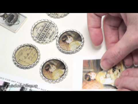 How to Prepare Images in Pendants for Resin Using Mod Podge