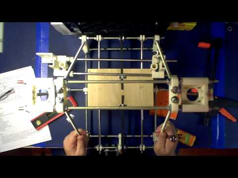 RepRap Prusa Mendel Build Unofficial Part 8: Installing The Z Axis 1st Half