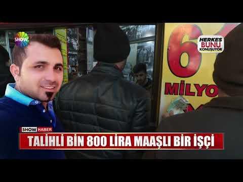Talihli Bin 800 Lira maaşlı bir işçi