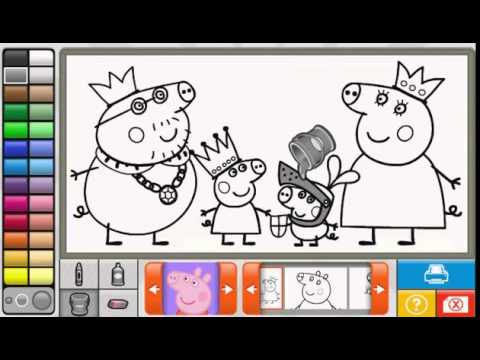 Свинка Пеппа пазл для детей. Папа свин, мама свинья, Джордж и Пеппа
