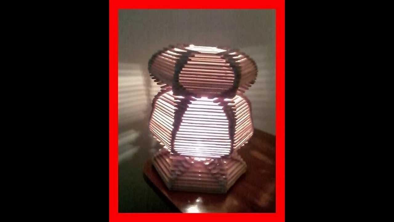 Paso a paso de como hacer una lampara con palillos de - Como hacer una lampara ...