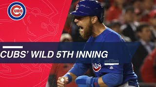 Watch the Cubs' wild 5th inning against Scherzer in Game 5 of the NLDS
