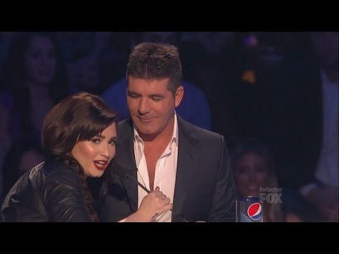Demi Lovato and Simon Cowell - Funniest moments on The X factor - Season 2 (6/6) LEGENDADO