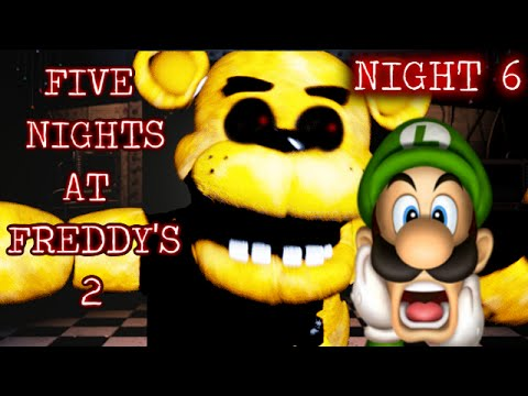 Five nights at freddy s 2 night 6 rage quit golden freddy