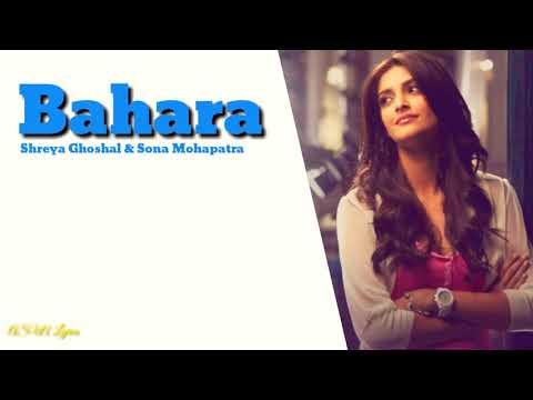 Shreya Ghoshal & Sona Mohapatra [ Bahara ] Full Lyrics Full Song 🎼