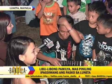 Pinoy families spend Christmas at Luneta