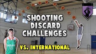 "BASKETBALL SHOOTING CHALLENGES VS 6'7"" INTERNATIONAL PLAYER!! *NBA 2K17 MyTEAM Discard Challenges*"