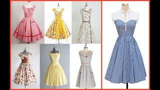 womens vintage style dresses=vintage summer clothes=decent 1950s dresses