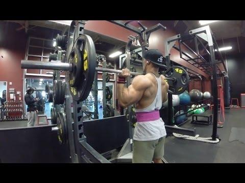 190 Lb OHP, Chris Jones, Teen Bulking, Push Workout