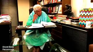 Javed Akhtar writing POETRY - LIVE VIDEO