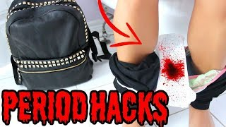 13 BACK TO SCHOOL PERIOD HACKS EVERY Girl SHOULD KNOW !!