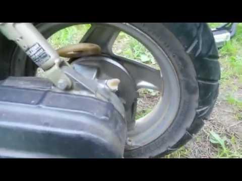 Yamaha Grand Axis 100 (120cc) Замена масла в редукторе