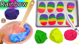 Making Rainbow Dough For Easter Egg Sugar Cookies with Chef Barbie Video