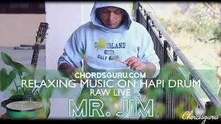 Relaxing Music raw live on HAPI Drum | feat. Mr Jim | Chordsguru