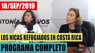 Tita Elizondo, Representante SOS Nicaragua DH desde Costa Rica y Paola Montes Cafe con Voz Nicaragua