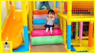 Indoor Playground Fun for Kids and Family Play Slide Rainbow Colors Balls   MariAndKids Toys
