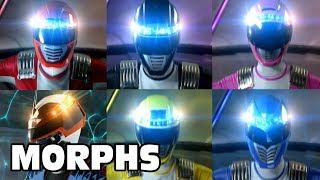Power Rangers Operation Overdrive - All Ranger Morphs   Episodes 1-32   It's Morphin Time