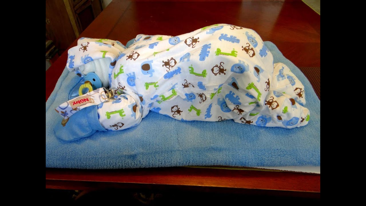 How To Make A Sleeping Baby Out Of Diapers Diy Diaper