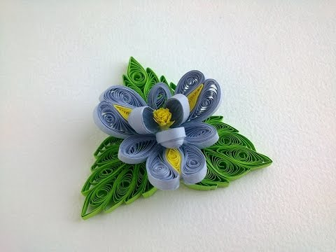 Quilling tutorial Flowers How to make  Quilling Flower and Quilling Leaves.
