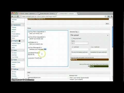 Wordpress 3 - How To Make A Form