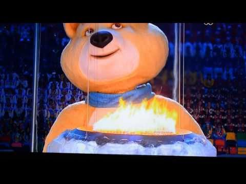 Sochi bear closing ceremony